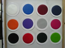 2 ROUND TAX DISCS-PERMIT HOLDERS - you pick the colours (can be the same colour)