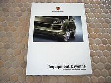 PORSCHE OFFICIAL CAYENNE S TURBO TEQUIPMENT ACCESSORIES SALES BROCHURE 2007 USA