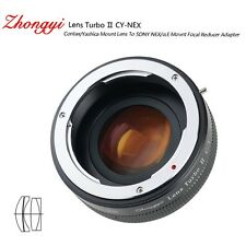 Lens Turbo II adapter for Contax Yashica mount lens to Sony mount NEX7 α6000