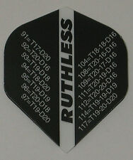 3 Sets (9 Flights) Ruthless - BLACK OUT CHART Standard - Free Shipping 1821