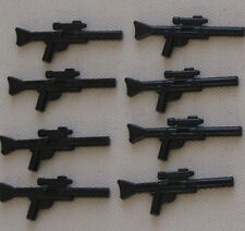 LEGO 8 LONG BLACK STAR WARS BLASTERS GUNS WEAPONS WITH A SCOPE
