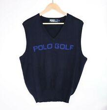 Polo Ralph Lauren Golf Men's Dark Navy Cotton Sweater Vest Logo Pullover Large
