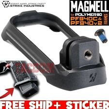 Strike Industries Magwell for Polymer80 P80 PF940C & PF940v2 Frames Black Poly
