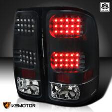 Black 2007-2014 GMC Sierra 1500 2500 3500 LED Tail Lights Brake Lamps Left+Right