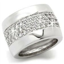 Micro Pave Set Cz Cubic Zirconia Eternity Wedding Cocktail Statement Band Ring 7