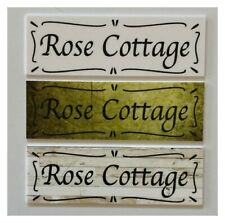 Cottage Custom Personalised Your Text Sign Wall Plaque or Hanging House Vintage