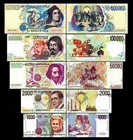 Italia - 2x 1.000 - 500.000 Lire - Edición 1990 - 1997 - Reproducción - 01