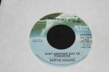 Bertie Higgins Just Another Day In Paradise b/w  45 From Co Vault Unopen Box *