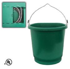 Farm Innovators Fb-80 3 Gallon Flat Back Heated Livestock Water Bucket