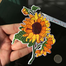 Gogh Sunflower Patch Still Life Painting Boho Sewing Flower DIY Iron on Applique