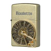 Zippo Lighter Roulette BA Emblem Antique Brass Vintage Windproof Genuine Gift
