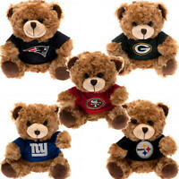 Official NFL Plush Soft Mascot Teddy Bear & Club T-Shirt Kit American Football