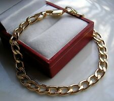 GENUINE SOLID 9CT GOLD GF CURB BRACELET SILLY SILLY PRICE ONLY A FEW LEFT GB015
