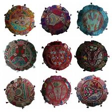 Indian Handmade Floor Round Home Decor Pillow Vintage Patchwork Cushion 45cm(D)