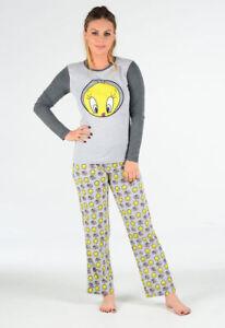 Women's PJ Tweetie Pie Pyjama Set Top Bottom Nightwear ladies UK 8-16