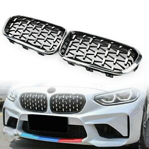 Chrome Black Front Kidney Grille Fit BMW 2015-2017 1 Series F20/F21