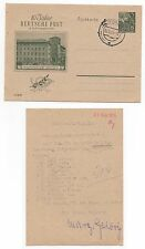 1955 GERMANY Cover GORLITZ Stationery Postcard Deutsche Post 10 Year Anniversary