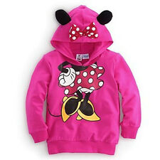 Baby Girls Boys Kids 3D Mickey Minnie Mouse Hoodies Sweatshirt Coat Tops 1-6Y