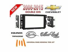 2006-2015 CHEVROLET IMPALA EQUINOX TRAVERSE 2 DIN CAR STEREO INSTALL DASH KIT