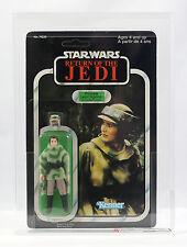 Vintage Star Wars Return of the Jedi ROTJ Leia Poncho Endor AFA 80 MOC UP Kenner