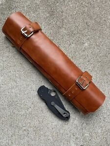 Handmade Leather pocket knife roll (Para 3 For Scale)