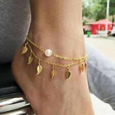 Ankle Bracelet Leaf Foot Chain 1Pc Sexy Simple Gold Anklet