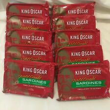 10 Single Cans King Oscar Wild Caught Sardines in Extra Virgin Olive Oil