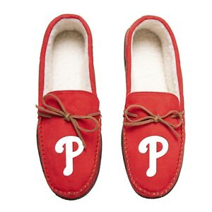 Philadelphia Phillies Team Color MLB Men's Moccasins Slippers FREE SHIPPING