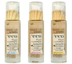 Bielenda Make-up Academie Eco Fluid Vegan Natural Liquid Foundation SPF10 30g