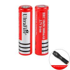 Ultrafire 18650 flashlight capacity 3000mAh 3.7V Li-Ion rechargeable battery