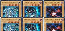 6 Ultras 2 Blue-Eyes White Dragon Set+ 2 Red-Eyes B Dargon +2 Dark Magician LC01