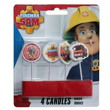 Fireman Sam - Party Birthday Cake Candles 4 pcs.
