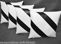 """Nouveau Funky numéro Mots Home Noir /& Blanc IKEA Tissu Coussin Décoratif Couvre 16/"""""""