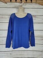 Soybu | Blue Mesh Back Active Long Sleeve Pullover Top Size Medium