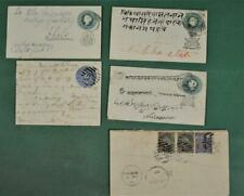 INDIA STATES STAMP COVERS SELECTION OF 5 EARLY COVERS CARDS ECT  (P56)