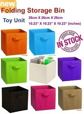 ツ 26cm Foldable Storage Box Cube shelving unit Organiser AU Toy Organiser 01