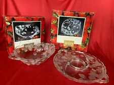 "Crystal Clear Studios Arielle 16-1/2"" Sectional Frosted Tray and10"" Bowl"