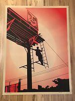 2011 Shepard Fairey Bayshore Billboard Print Obey Giant Street Art Poster S/N