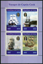 Chad 2019 MNH Captain James Cook Voyages 4v M/S Boats Ships Nautical Stamps