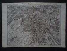 1748 LE ROUGE  Atlas map  PARIS - FRANCE - Plan de Paris