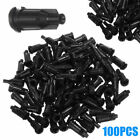 100PCS Black Lock Syringe Tips Caps Injector Dispensing Needle Sealing Plug