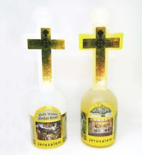 Holy water and anointing oil Olive oil cross bottles Holyland Jerusalem