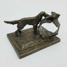 Reed Barton Aurora Dog Bird Napkin Ring Holder Figurine Silverplate Vintage Fine