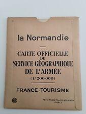 Ancienne carte France Tourisme 1928 /LA NORMANDIE