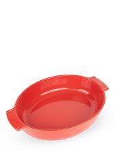 """PEUGEOT - Plat four céramique ovale rouge 40 cm - 13 1/2"""" Appolia"""