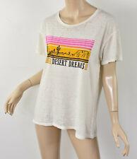 NWT JUNK FOOD Tusk Ivory DESERT DREAMS Cactus Sunset Burnout Jersey T-Shirt M