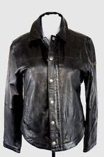 CAMP DAVID Lederjacke Bikerjacke Leder Leather Jacket schwarz Gr M 50 NEU HA58
