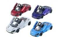 "5"" Kinsmart McLaren 720S 1:36 Scale Diecast Model Toy Car  Red/White/Blue/Purple"
