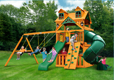Home and Garden Malibu Extreme Clubhouse Swing Set Wave Slide Tube Slide New