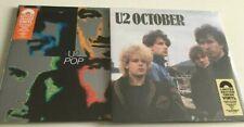 U2 POP & OCTOBER COLOURED ORANGE & CREAM VINYL 180GRM LP SEALED 2019